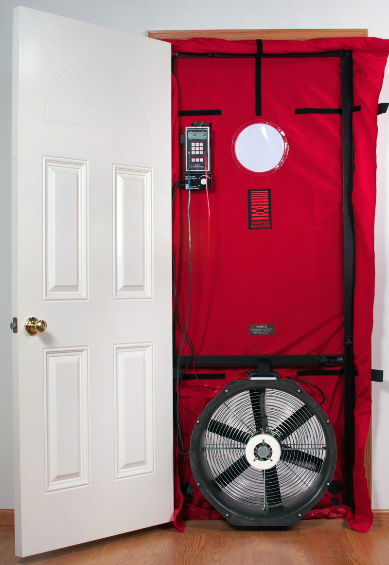 what are blower door tests and why do they matter usi building solutions. Black Bedroom Furniture Sets. Home Design Ideas