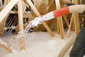 Blown-in fiberglass attic insulation benefits